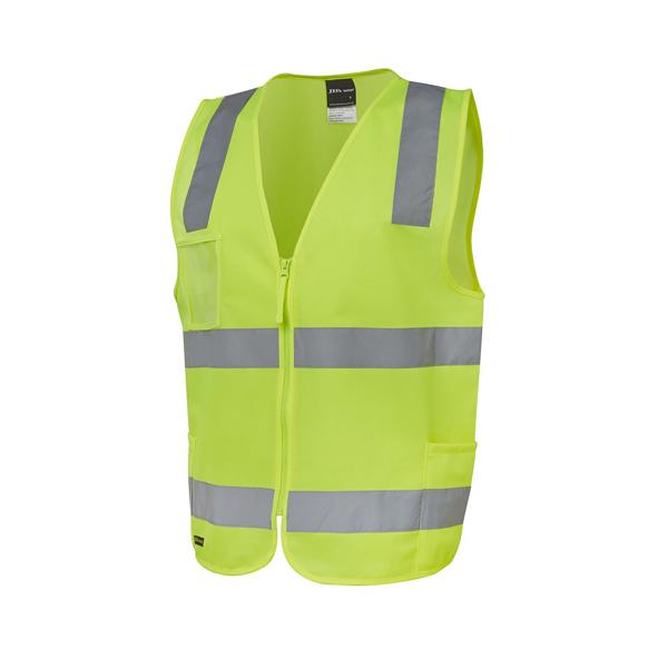 Hi Vis (D+N) Zip Safety Vest