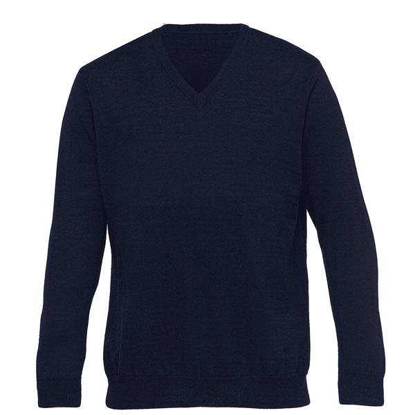 Merino Detailed Vee Pullover Mens
