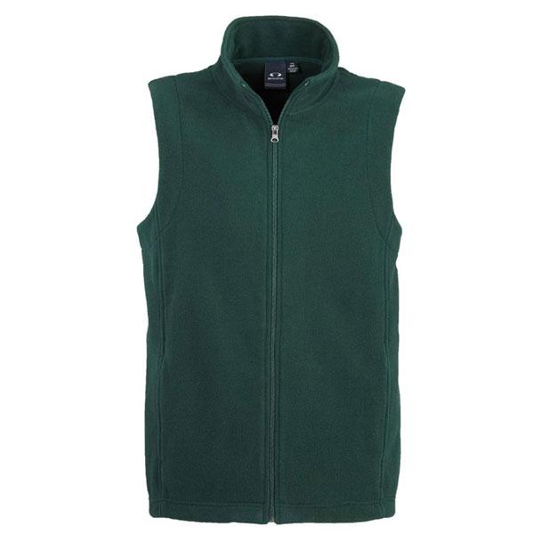 Mens Plain Microfleece Vest